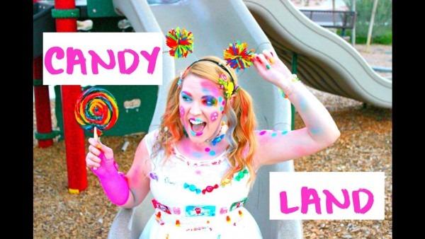 Candy Land Inspired Costume & Makeup Tutorial Diy