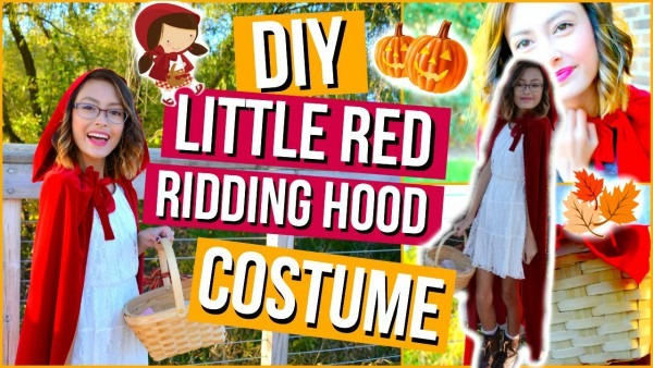 Diy Little Red Riding Hood Halloween Costume & Makeup!