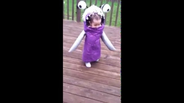 Homemade Boo From Monster Inc  Costume On A 15 Month Baby Girl