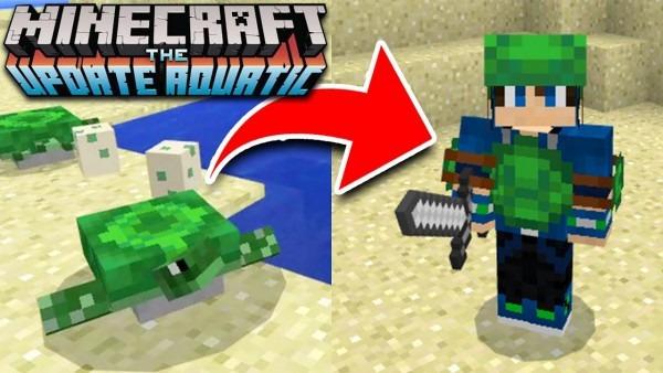How To Craft Secret Turtle Armor In Minecraft Update! 1 3 Aquatic