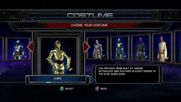 Star Wars  The Force Unleashed All Costumes Unlocked
