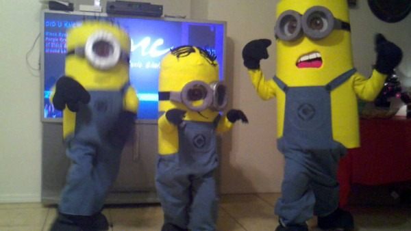 Dispicable Me  Homemade Minions Costumes 2012 Getting Down!!