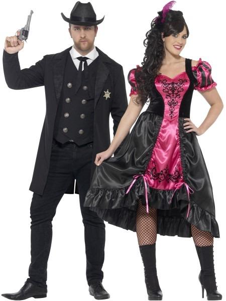 Mens Ladies Wild West Costume Sheriff Saloon Girl Plus, Plus Size