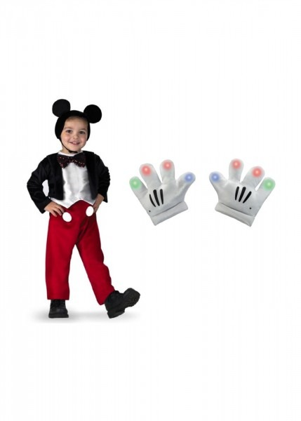 Mickey Mouse Character Toddler Boys Costume And Gloves Set