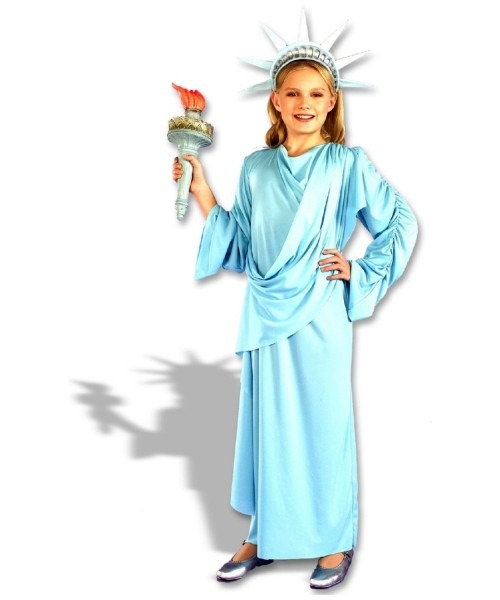 Little Miss Liberty Kids Patriotic Independence Costume