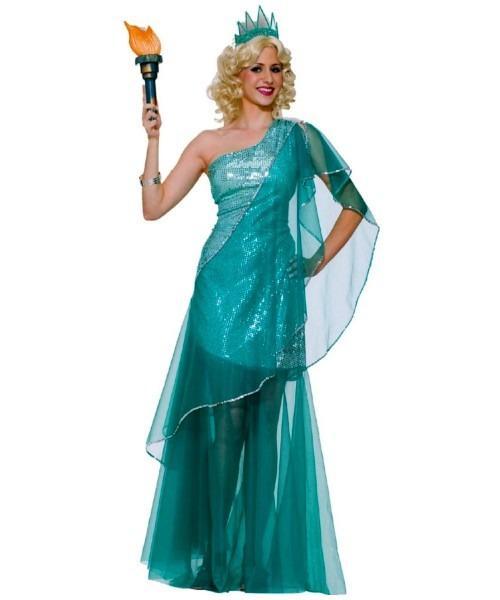 Adult Sexy Miss Liberty Halloween Costume