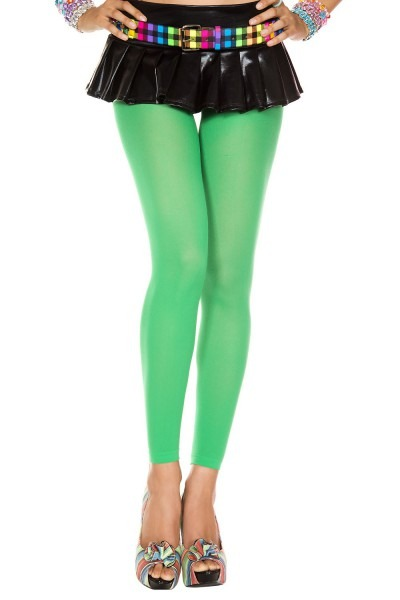 Adult Opaque Footless Tights Kelly Green