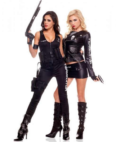 Adult Terminator Biker Costume Ml
