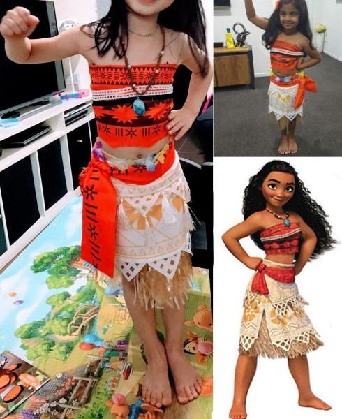 Moana Costume For Kids Moana Princess Dress Cosplay Costume