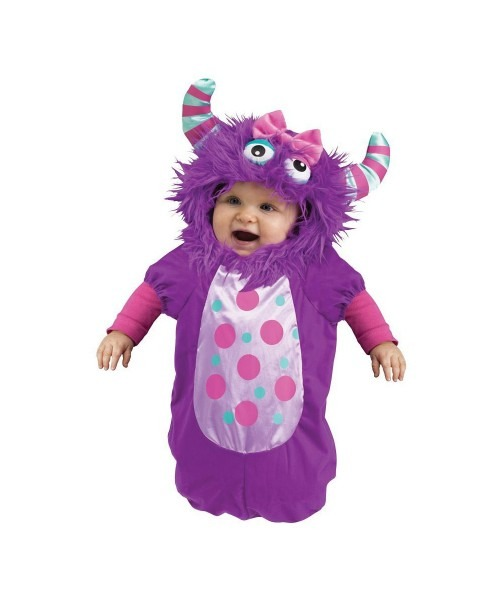Purple Monster Bunting Baby Costume
