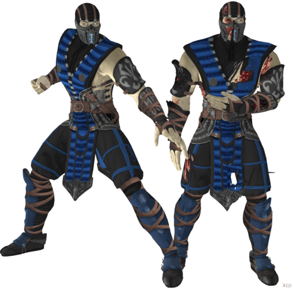 Sub Zero Child Costume & Mortal Kombat Sub Zero Adult Costume Blue