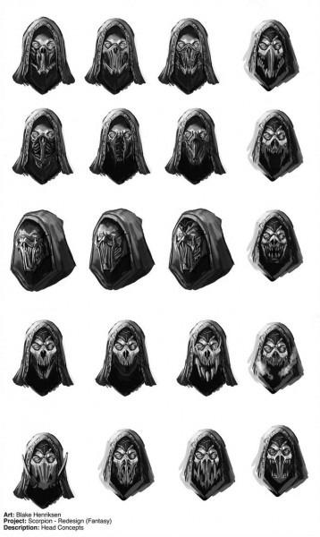 Mortal Kombat  Scorpion Face Mask Redesigns By Pinkhavok On Deviantart