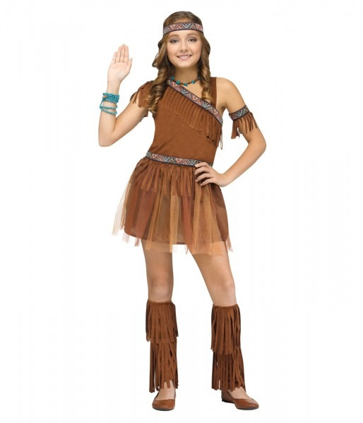 Native American Indian Thanksgiving Girls Costume