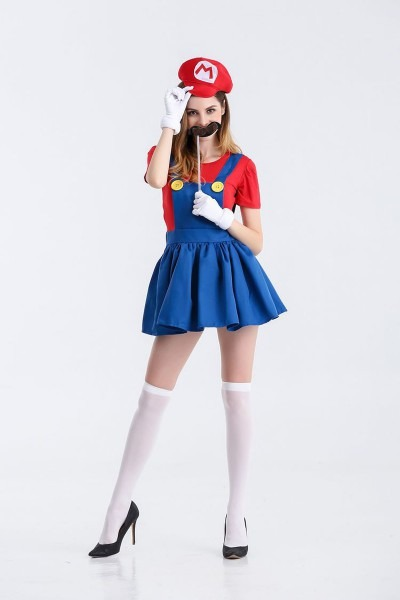 Online Shop New Arrival Adult Cute Mario Cosplay Costume Suit