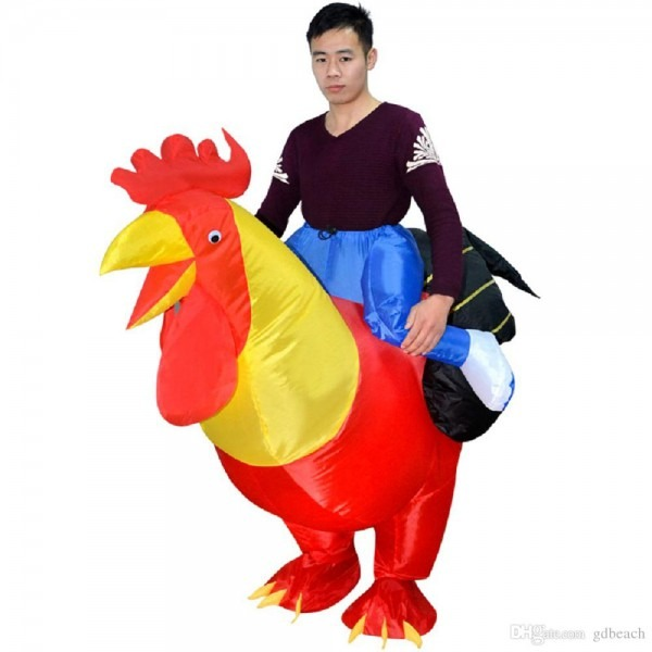 New Inflatable Adult Inflatable Costume Rooster Chicken Big Cock
