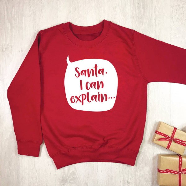 Santa I Can Explain Kids Christmas Jumper By Lovetree Design