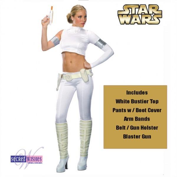 Star Wars Padme Amidala Costume Ladies Deluxe Women Jedi Halloween