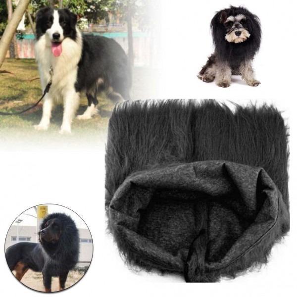 Pet Costume Dog Lion Wigs Mane Hair Festival Party Fancy Dress Up