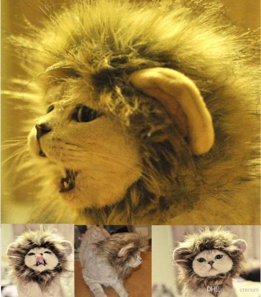 Pet Costume Lion Mane Wig For Dog Halloween Cloth Festival Fancy