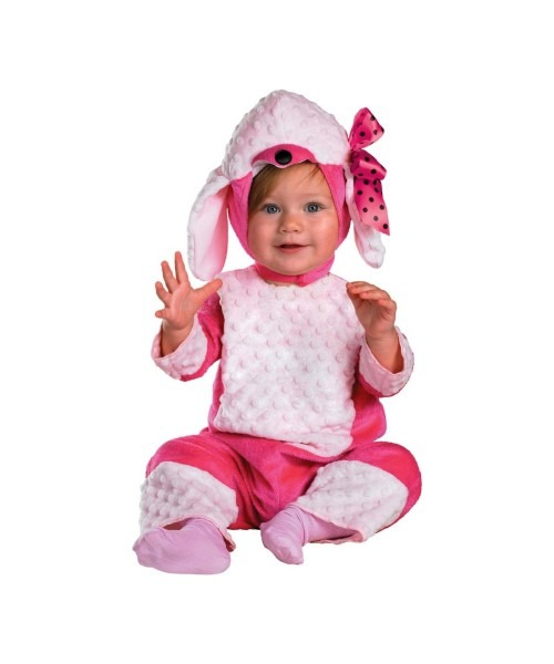Pink Poodle Baby 50s Costume