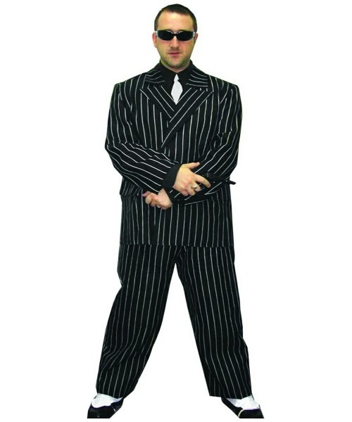 Adult Pinstripe Gangster Halloween Costume