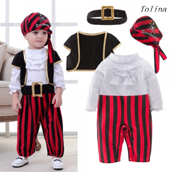 Pirates Of The Caribbean Cosplay Costumes For Baby Boy Party Set