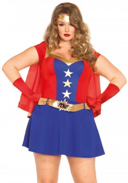 Plus Size Comic Super Hero Costume