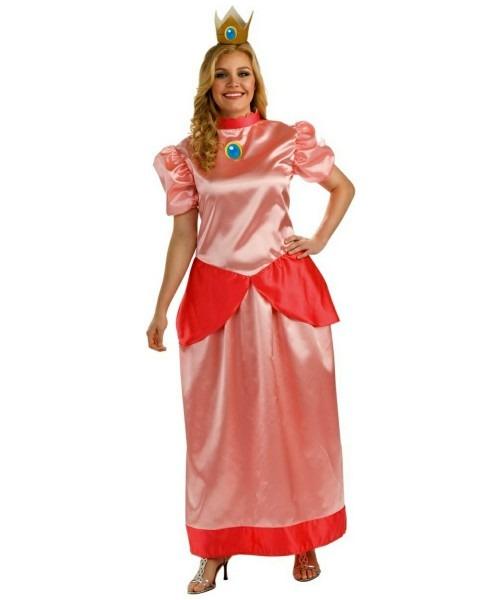 Mario Super Princess Peach Adult Plus Size Costume