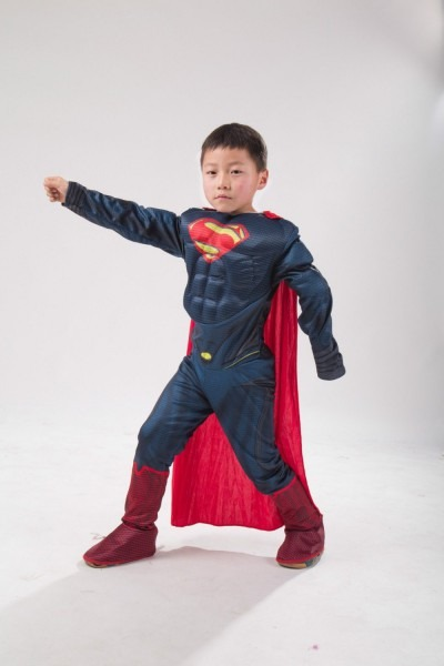 Purim Costumes Kids Deluxe Muscle Christmas Superman Costume For