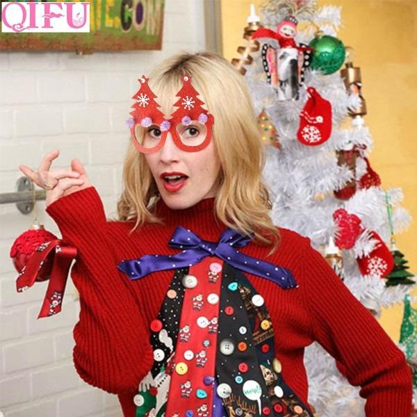 Qifu Glasses Christmas Decoration Supplies Funny Glasses Fancy