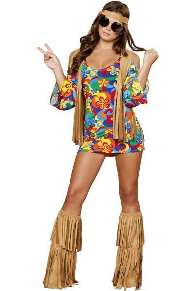 Groovy Flower Child Sexy Hippie Costume