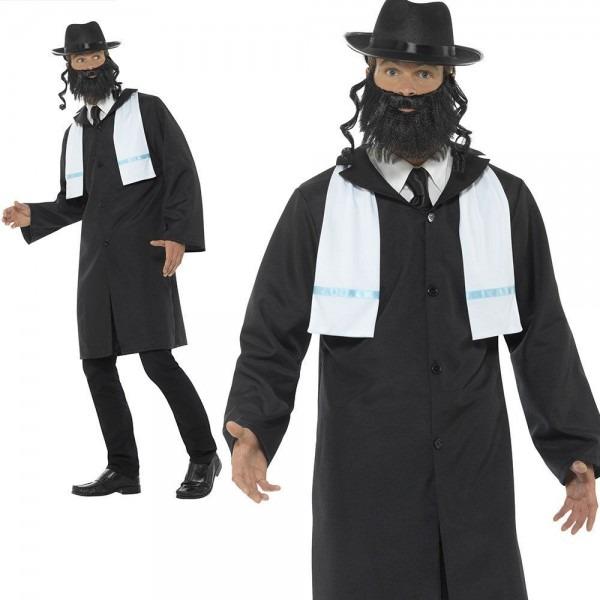 Adults Rabbi Costume Mens Jewish Priest Religious Fancy Dress