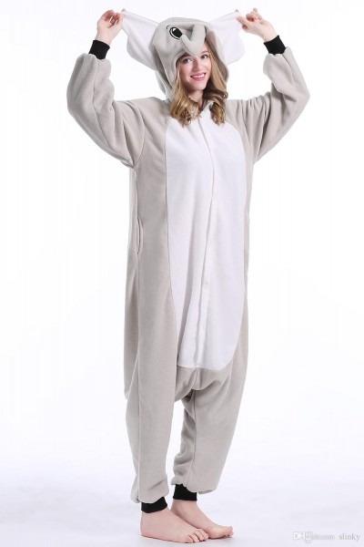 2019 Stock Elephant Warm Unicorn Kigurumi Pajamas Animal Suits
