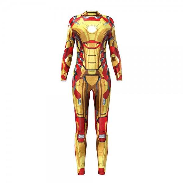 2019 Onseme Comic Superhero Iron Man Cosplay Fitness Jumpsuit