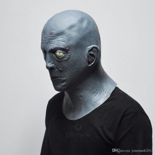 2018 Hot Sale Scary Gray Old Man Masks Halloween Latex Party Mask