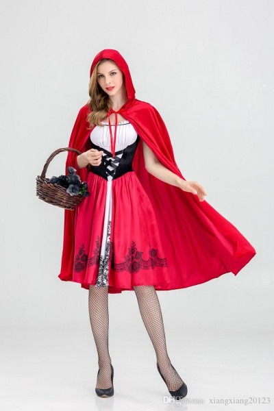 Halloween Little Red Riding Hood Costume, Adult Cosplay Outfit