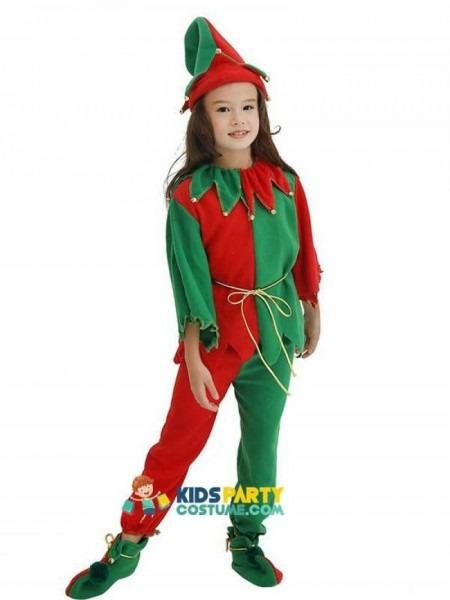 Kid Cosplay Dress Suit Boy Girl Performance Uniform Green