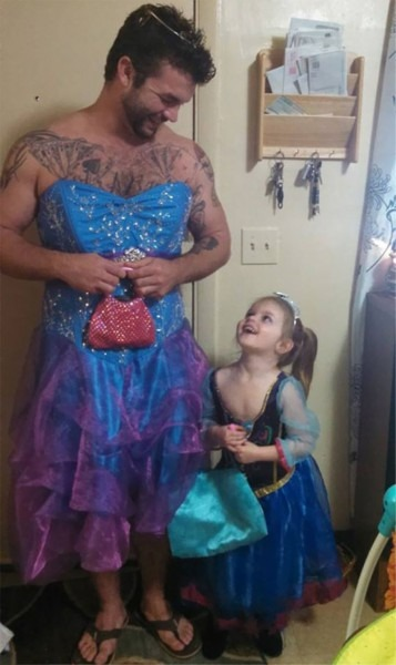 She Was Afraid To Wear Princess Dress To Cinderella Movie, So Her