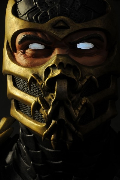 Mortal Kombat Scorpion Face Mask