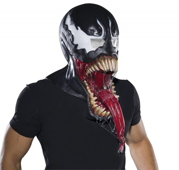 Marvel Universe Venom Latex Costume Mask Adult One Size