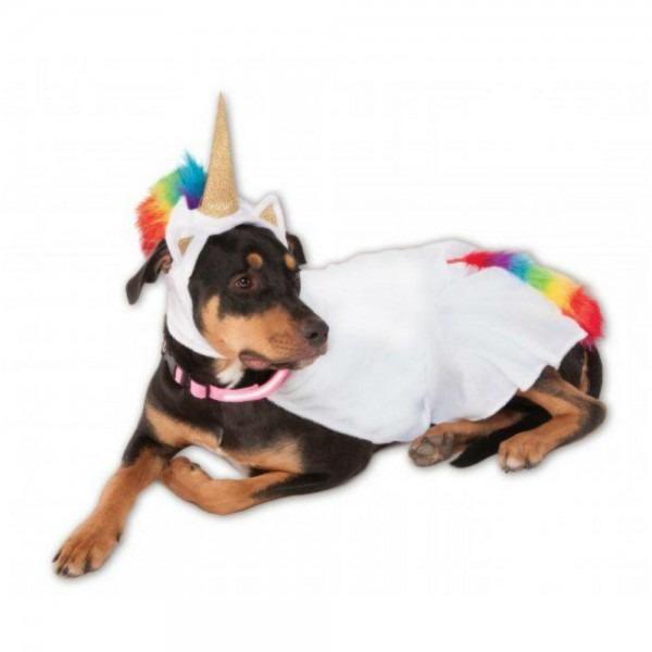Rubies Big Dog Light Up Collar Unicorn Dog Co
