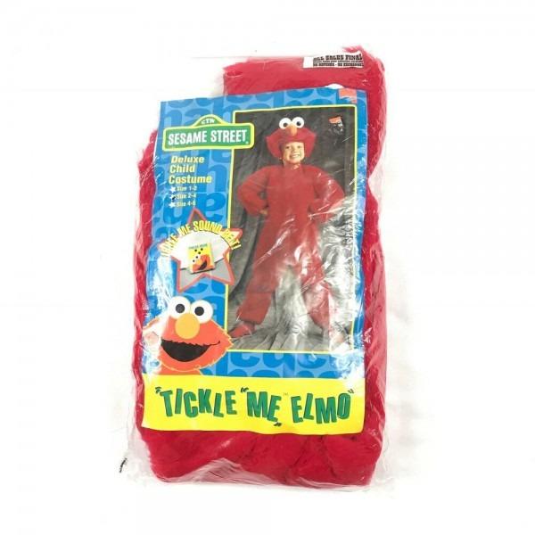 Euc Halloween Sesame Street Tickle Me Elmo Deluxe Child Costume Sz