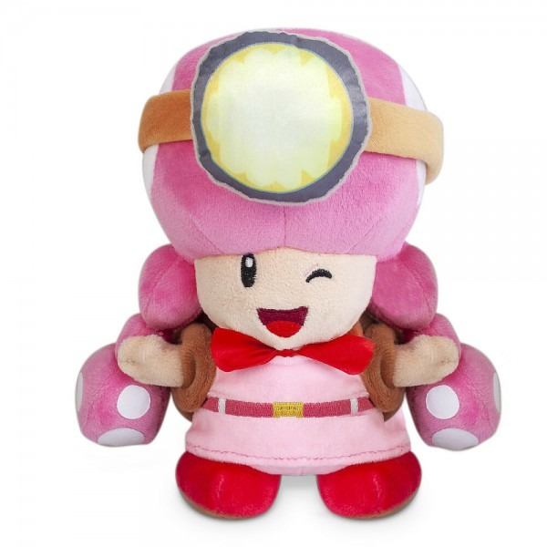 Super Mario 7'' Mushroom Pink Toadette Toad Plush Doll Kids Toy