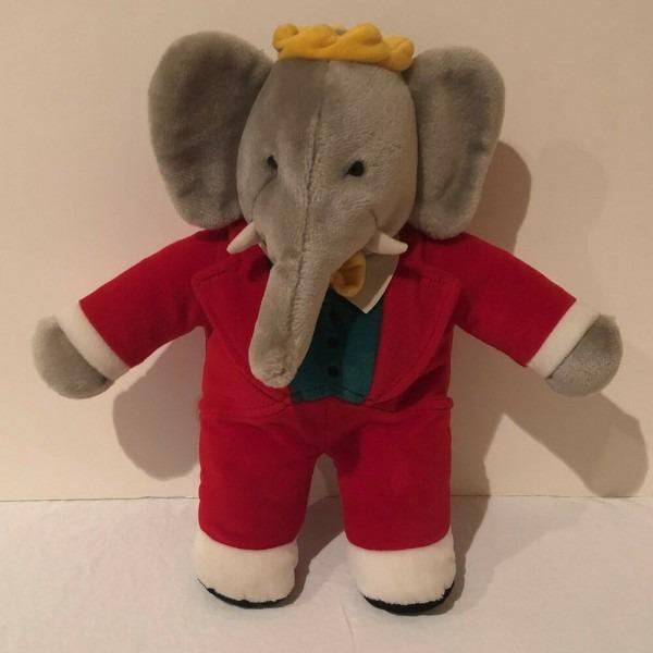 Gund Babar Plush Elephant Stuffed Animal Toy Doll 15  Red King