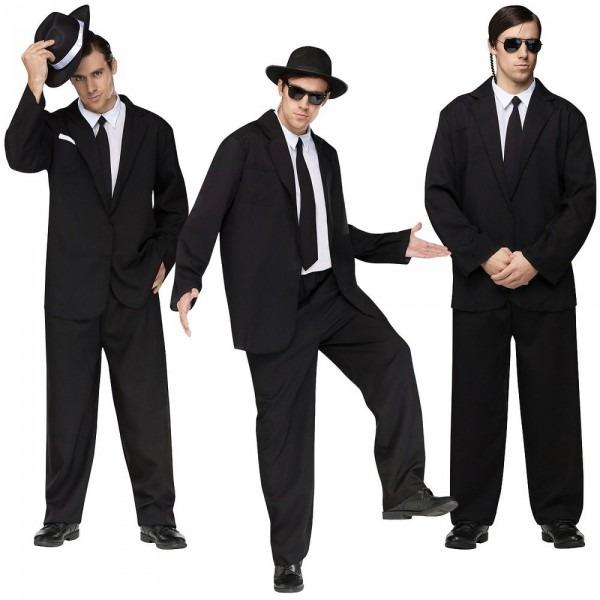 Black Suit Costume Blues Brothers Men In Black Fbi Secret Service