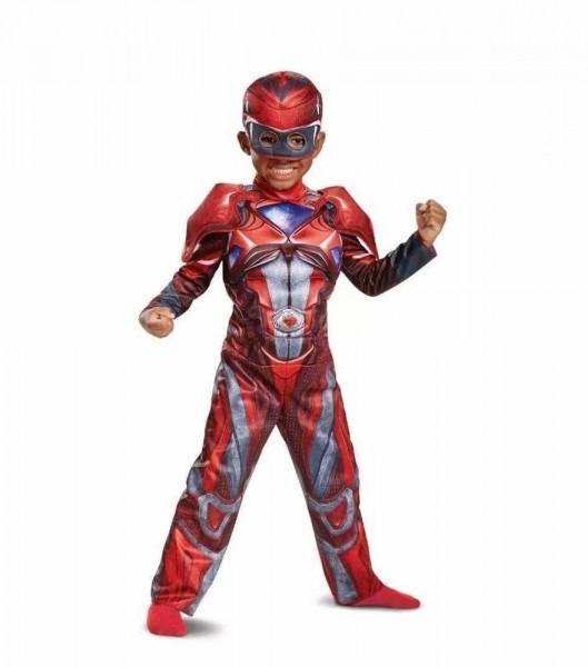 Nwt Toddler Deluxe Power Ranger Red Ranger Costume W  Padded