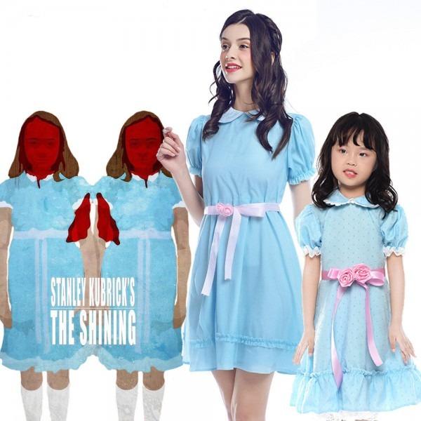The Shining Grady Twins Blue Girl Kids Lolita Dress Cosplay
