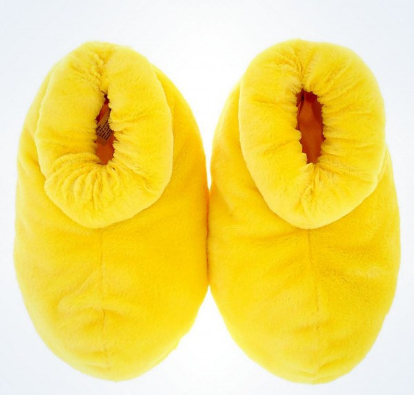 Mickey Mouse Feet Slippers Adult Size Small Yellow Disney World