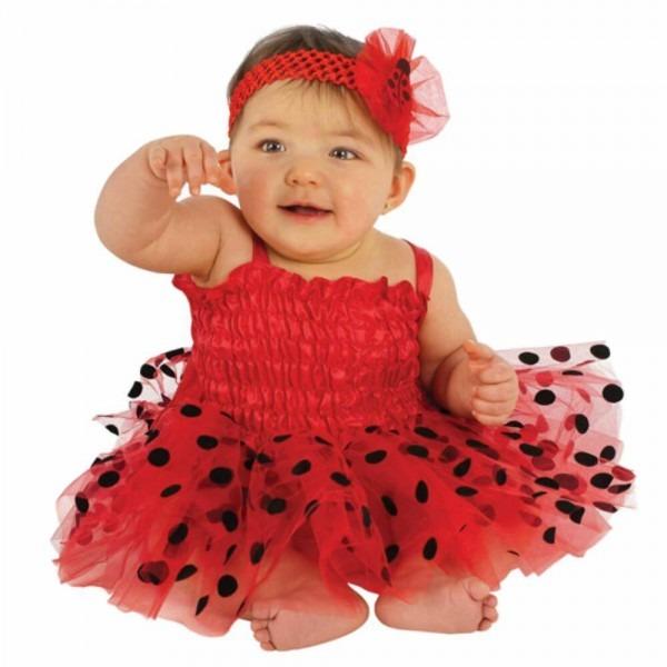 Infant Girls Red Ladybug Costume Baby Lady Bug Tutu Dress