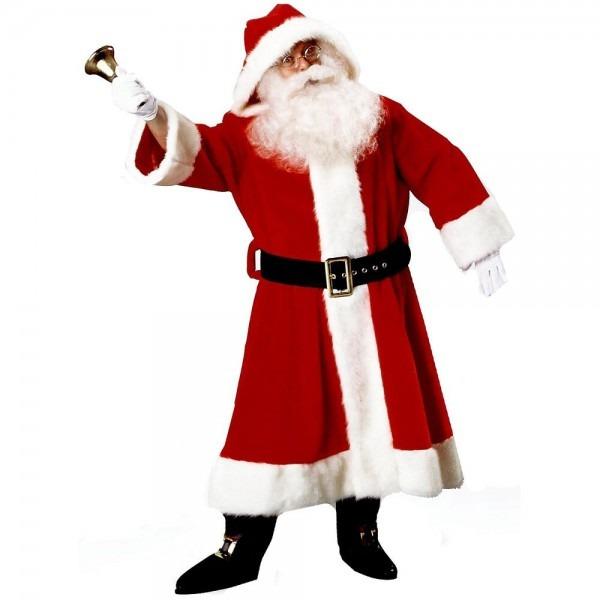 Plush Old Time Santa Suit Dlx Victorian World European Claus